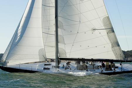Test your racing prowess on a classic America's Cup 12M