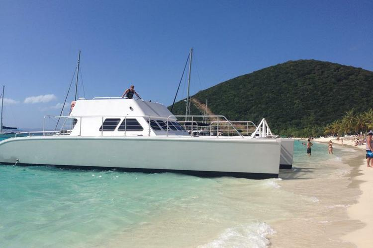 Enjoy a day in the BVI's on this awesome power catamaran