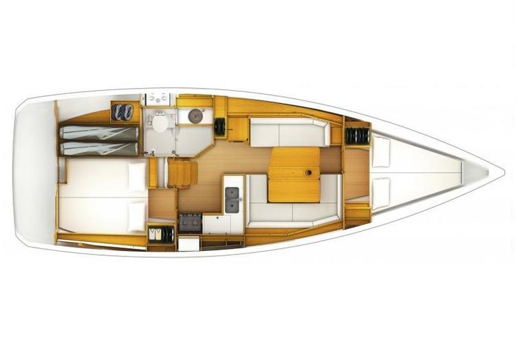 This 37.0' Jeanneau cand take up to 6 passengers around Fort Lauderdale