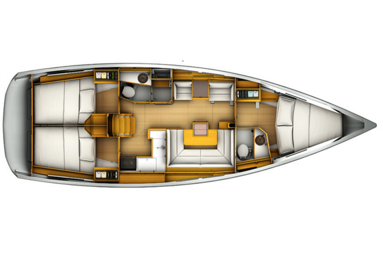This 40.0' Jeanneau cand take up to 8 passengers around Fort Lauderdale