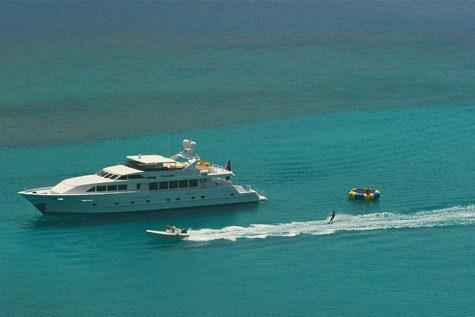 The Caribbean Offers So much Freedom in this Luxury Motor Yacht!