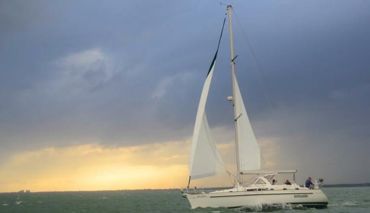 Sailing on Biscayne Bay in Miami