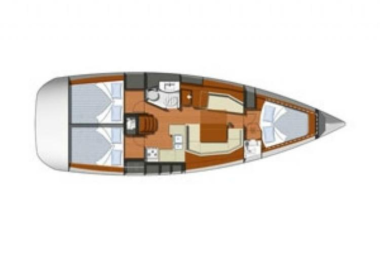 This 39.0' Jeanneau cand take up to 6 passengers around Road Town