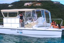 Cruise this custom built catamaran through the VI!