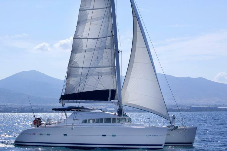 Charter this spacious catamaran and enjoy the Med