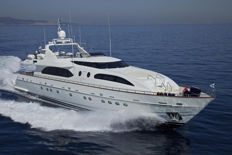 Charter this Stunning Yacht and explore the Waters off of Greece