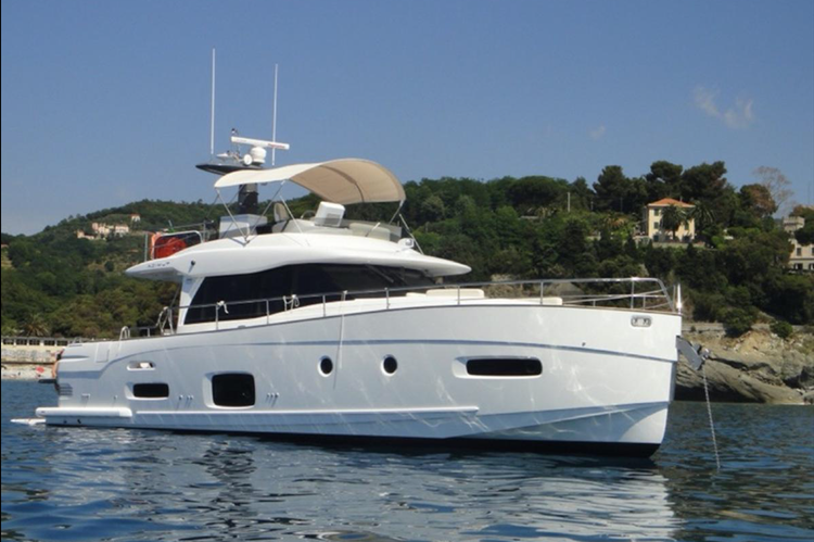 Cruise around Cascais or Lisbon in this luxury motor yacht