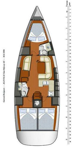 Discover Balearic Islands surroundings on this Sun Odyssey 42i Jeanneau boat