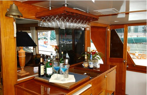 Up to 30 persons can enjoy a ride on this Classic boat