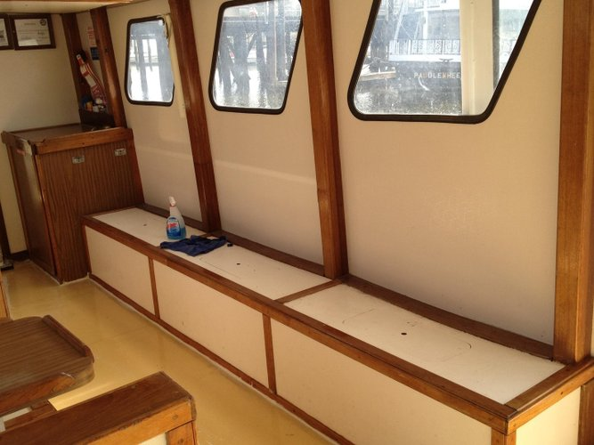 Up to 70 persons can enjoy a ride on this Saltwater fishing boat