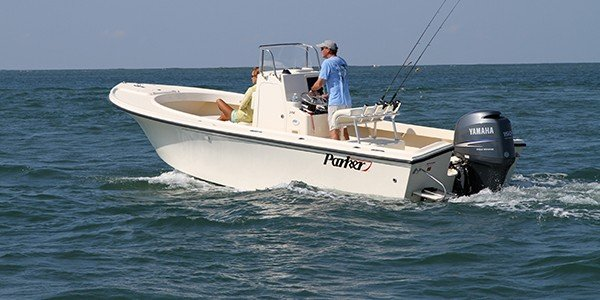 Up to 4 persons can enjoy a ride on this Center console boat