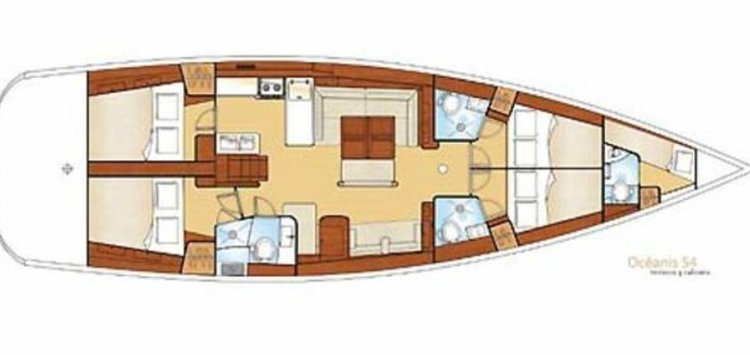 Discover Nyack surroundings on this Oceanis Beneteau boat