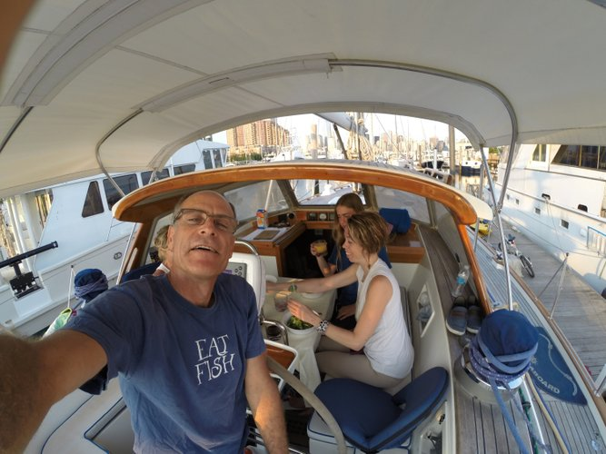 Discover Jersey City surroundings on this Rassy HR53 Hallberg boat