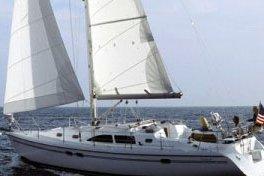 Sail Charleston in this elegant Irwin Sailboat