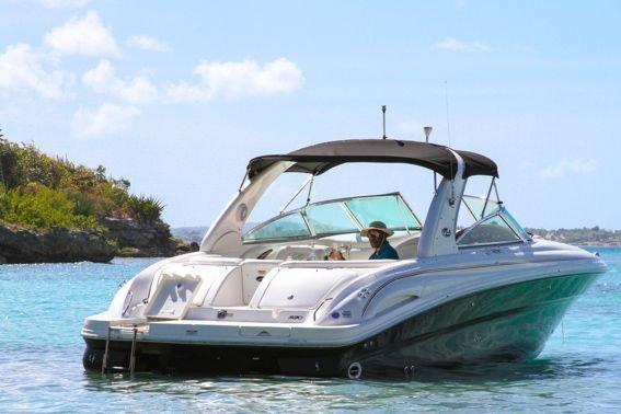 Enjoy a Gourmet Cruise around Antigua on this Bowrider