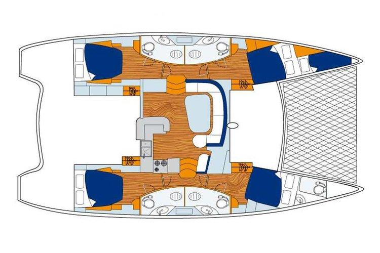 Catamaran boat for rent in St. Maarten