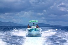 Jump on this amazing powerboat and explore St John