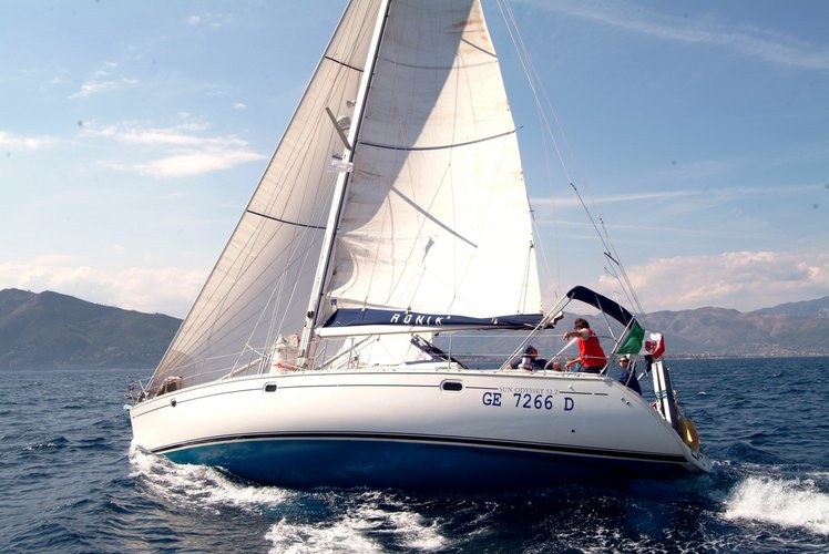 Cabin and crewed charter on a 52 feet sailing boat in Italy