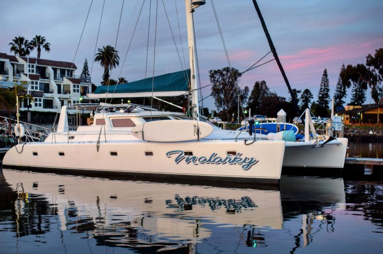 No expense has been spared.The Malarky is the catamaran of choice for customers.