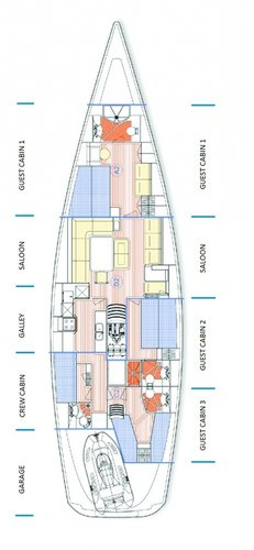 Discover Split region surroundings on this X 65 X-Yachts boat