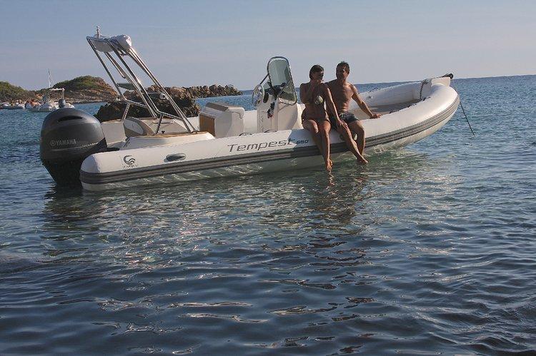 Rigid inflatable boat rental in Marina de Lagos, Portugal