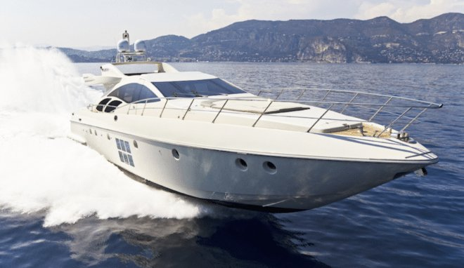 Explore the waters of the French Riviera in this beautiful Azimut yacht