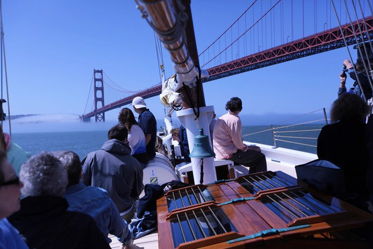 Up to 49 persons can enjoy a ride on this Schooner boat