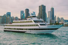 Party hard in Chicago on a sleek motor yacht