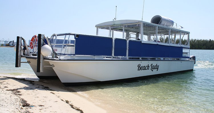 Enjoy cruising in Miami onboard this elegant catamaran