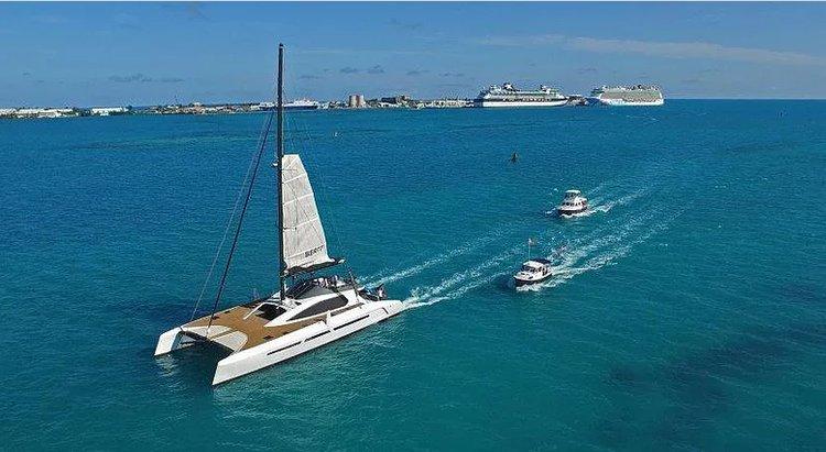 Dine & wine in Bermuda onboard most elegant sailing catamaran