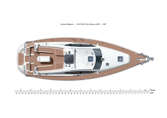This 45.0' Jeanneau cand take up to 6 passengers around Aegean