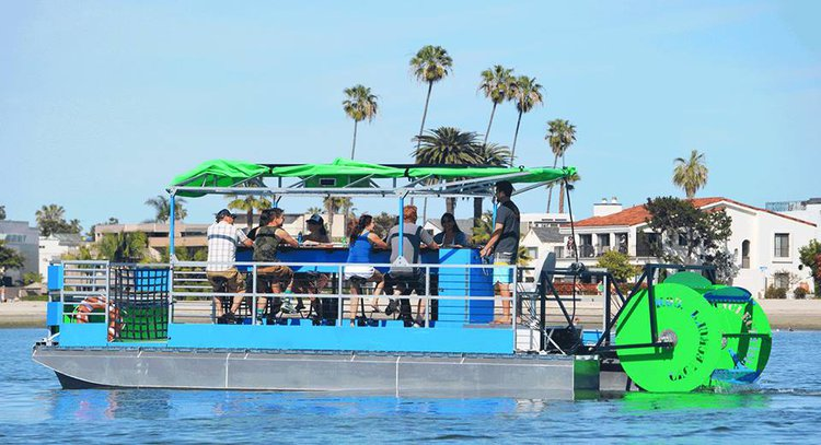 Have fun onboard Michigan's first and only 16 passenger pedal powered boat