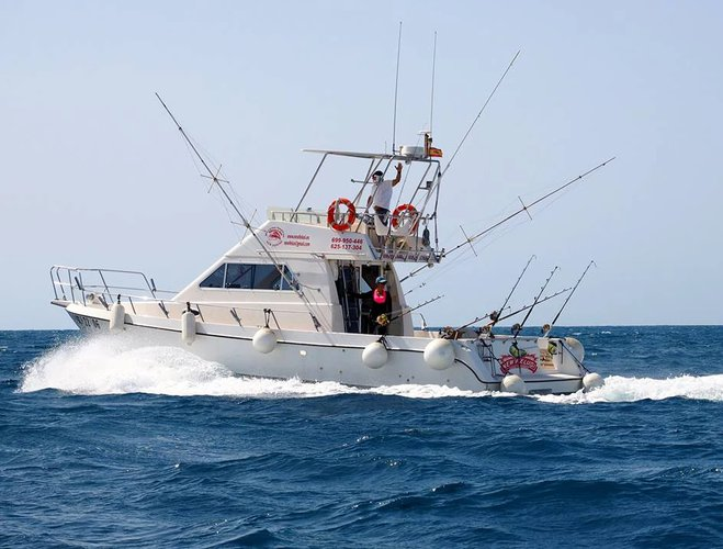 Charter 35' fishing boat in Spain at affordable price