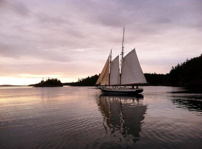 Enjoy cruising  in Washington onboard 80' classic sailboat