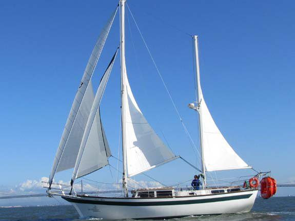 Discover San Francisco surroundings on this Freeport 41 Islander boat