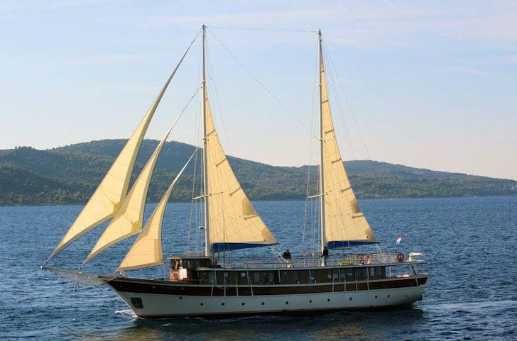Fun in Sun onboard 115' classic sailing yacht in Split, Croatia