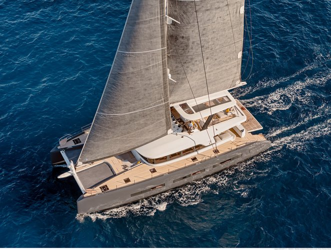 Be the first to cruise the Med aboard a brand new 77' cat