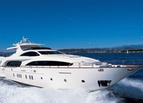 Cruise in style in Singapore aboard 116' elegant motor yacht