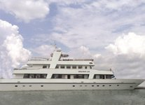 Indulge in spacious deck space and luxurious interior onboard luxurious yacht