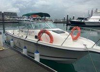 Charter a 26' Cabin Cruiser in Sentosa Cove, Singapore