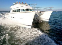 Indulge in spacious deck space and luxurious interior onboard 44' Cat