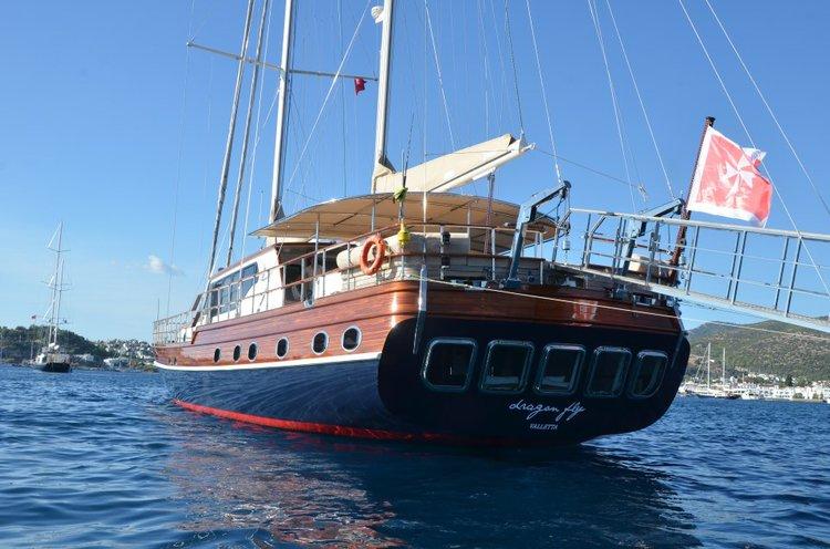 Classic boat rental in Porto Montenegro, Montenegro