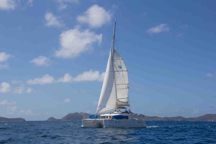 Sail through the British Virgin Islands aboard this amazing 450