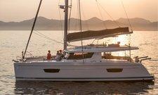 Sail through the British Virgin Islands aboard this superb Helia 44 Maestro