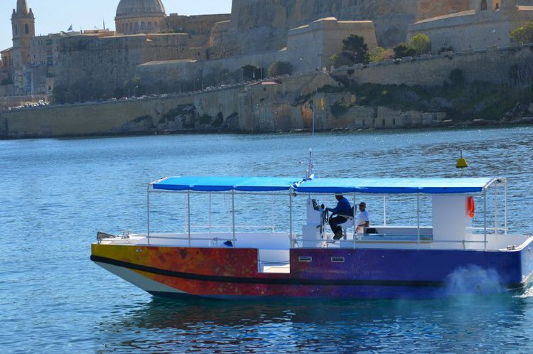 Discover the beauty of the Maltese coast line aboard this catamaran