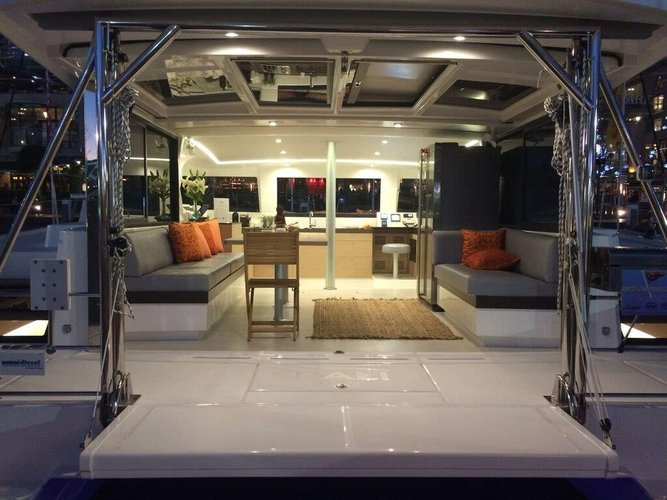 Discover Nassau surroundings on this 4.3 Owner Version Bali boat