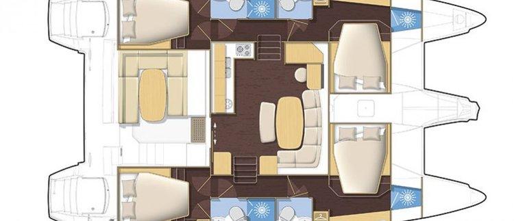 Boat for rent Lagoon 42.0 feet in Portomaso Marina, Malta