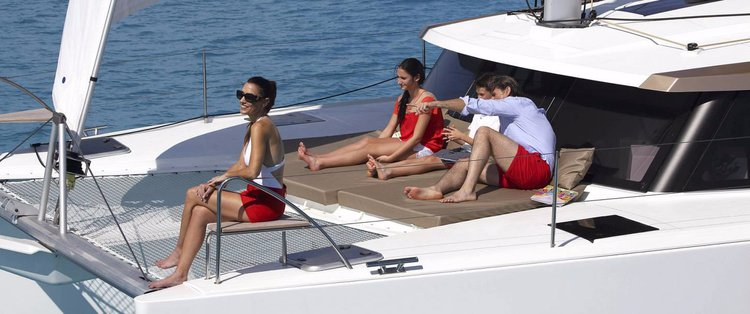 Discover Nassau surroundings on this 40 Owner Version Lucia boat