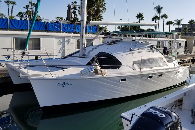 Catamaran boat rental in Marina Cortez, CA