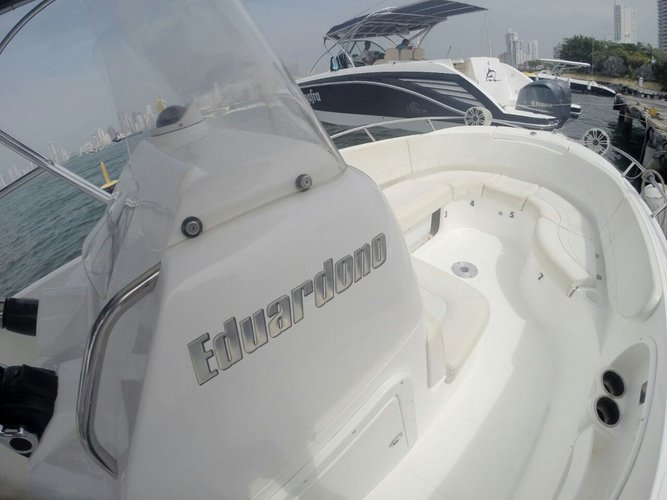 Discover Bolívar surroundings on this 290 Bravo boat